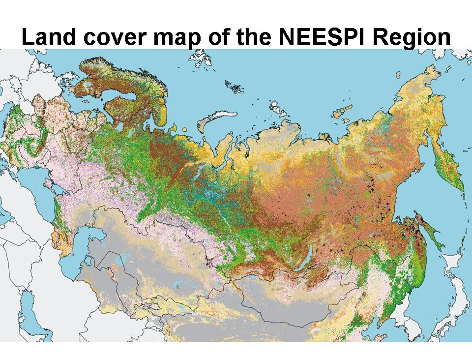 land cover of northern eurasia for the year 2000 map